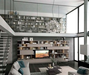 Turati - Triplo System TV Wall Unit