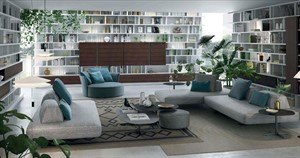 Turati - Triplo System Bookshelves Unit